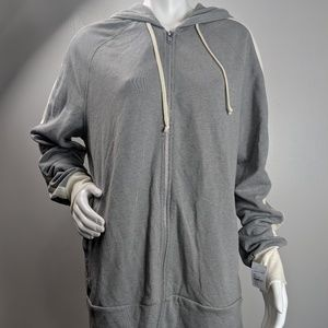 Alternative zip front hoodie pockets size large